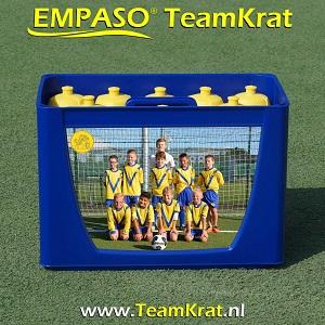 EMPASO TeamKrat - bidonkrat 12 bidons - bidonkratten bedrukken