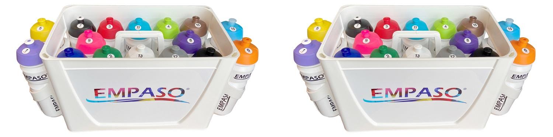TeamKrat bidonkrat 16 bidons verschillende kleuren - corona proo